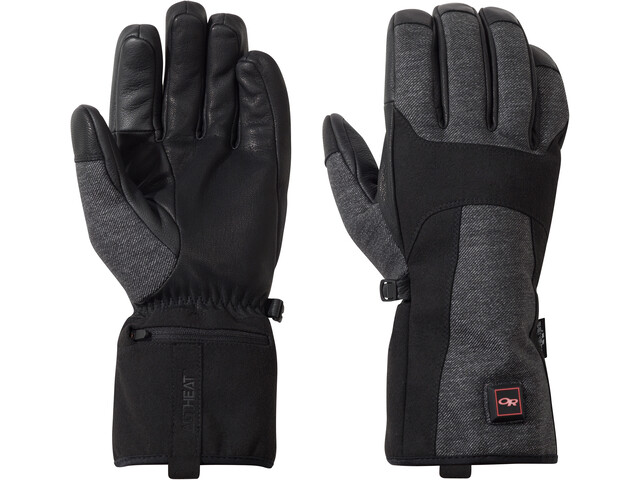 Outdoor Research Oberland - Guantes - gris/negro